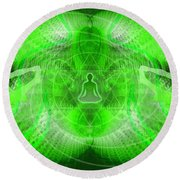 Cosmic Spiral Ascension 24 Round Beach Towel