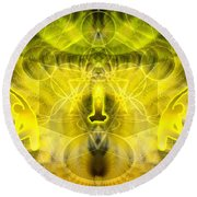 Cosmic Spiral Ascension 26 Round Beach Towel