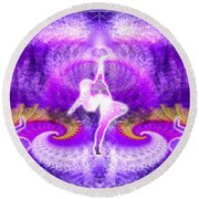 Cosmic Spiral Ascension 27 Round Beach Towel