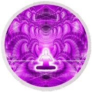 Cosmic Spiral Ascension 29 Round Beach Towel