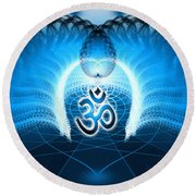 Cosmic Spiral Ascension 30 Round Beach Towel