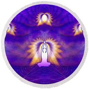 Cosmic Spiral Ascension 31 Round Beach Towel