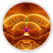 Cosmic Spiral Ascension 33 Round Beach Towel