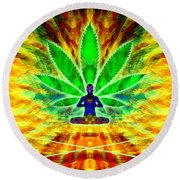 Cosmic Spiral Ascension 34 Round Beach Towel