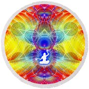 Cosmic Spiral Ascension 56 Round Beach Towel