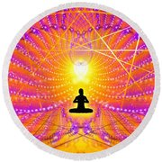 Cosmic Spiral Ascension 57 Round Beach Towel