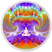 Cosmic Spiral Ascension 60 Round Beach Towel