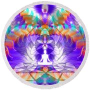Cosmic Spiral Ascension 61 Round Beach Towel