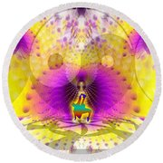 Cosmic Spiral Ascension 62 Round Beach Towel