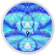 Cosmic Spiral Ascension 65 Round Beach Towel