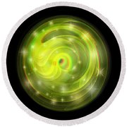 Cosmic Swirl - Use Red-cyan Filtered 3d Glasses Round Beach Towel