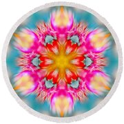 Cosmic Torch Round Beach Towel