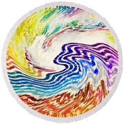 Cosmic Waves Round Beach Towel