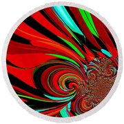 Cosmic Wimpout 1980 Round Beach Towel