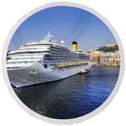 Costa Cruise Ship Round Beach Towel