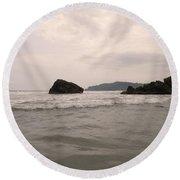 Costa Rica Coast Round Beach Towel