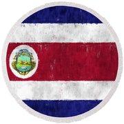 Costa Rica Flag Round Beach Towel
