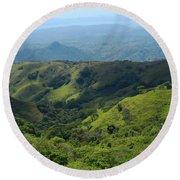 Costa Rica Greens Round Beach Towel