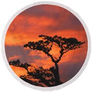 Costa Rican Sunset Round Beach Towel