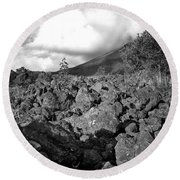Costa Rican Volcanic Rock  Round Beach Towel