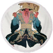 Costume Design For A Chinaman Round Beach Towel