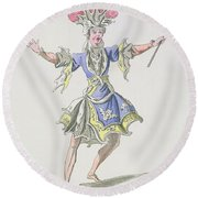 Costume Design For The Magician Round Beach Towel