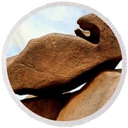 Cote De Granite Rose Round Beach Towel