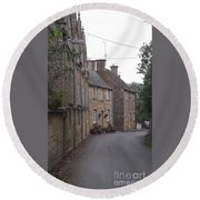 Cotswold Cottages Round Beach Towel