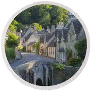 Cotswolds Morning Round Beach Towel