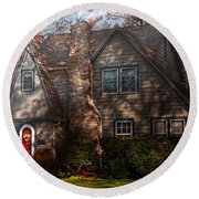 Cottage - Cranford Nj - Autumn Cottage  Round Beach Towel