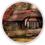 Cottage - Nana's House Round Beach Towel by Mike Savad