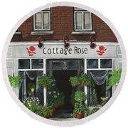 Cottage Rose Round Beach Towel