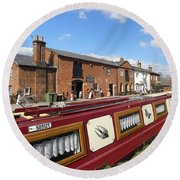 Cottages At Fradley Junction Round Beach Towel