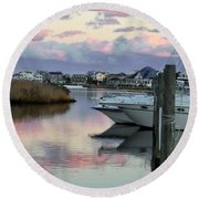 Cotton Candy Clouds Two Round Beach Towel