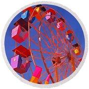 Cotton Candy Ferris Wheel Round Beach Towel