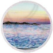 Cotton Candy Waters Round Beach Towel