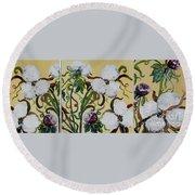 Cotton Triptych Round Beach Towel by Eloise Schneider