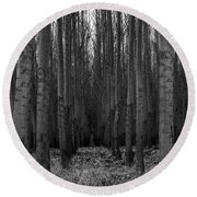 Cottonwood Alley Monochrome Round Beach Towel