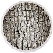 Cottonwood Bark 1 Round Beach Towel
