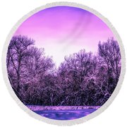 Cottonwoods Round Beach Towel