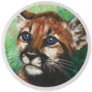 Cougar Prince Round Beach Towel