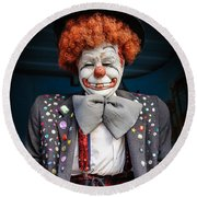 Coulrophobia Round Beach Towel