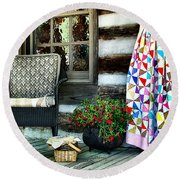 Country Accents Round Beach Towel