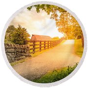 Country Alley Round Beach Towel