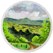 Country Round Beach Towel