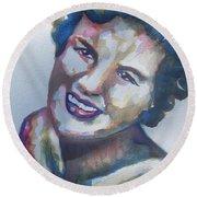 Country Artist Patsy Cline Round Beach Towel