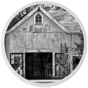 Country - Barn Country Maintenance Round Beach Towel