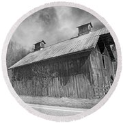 Country Barn Country Moon Country Round Beach Towel