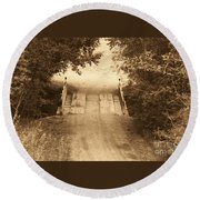 Country Bridge Round Beach Towel