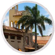 Country Club Of Coral Gables Round Beach Towel
